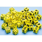 Didax Easyshapes Dot Dice - Volume Pricing: Bucket of 144, Grades K-8