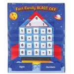 Didax Fact Family Blast-Off Pocket Chart: Grades K+