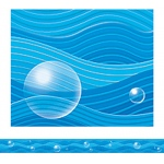 Blue Waves Straight Border Trim