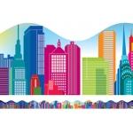 City Skyline Scalloped Trimmer