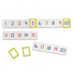 """Magnetic Number Line: 9 1/2"""" L x 2 1/4"""" H"""