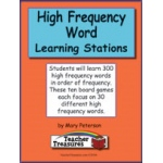 Didax Instant Literacy Learning Station: High Frequency Words, Grades 1-2